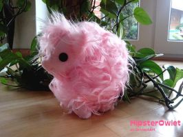 Fluffle Puff Plushie with Button Eyes by HipsterOwlet