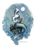Bookish Mermaid DAY Edition by Wynta-Illustrations