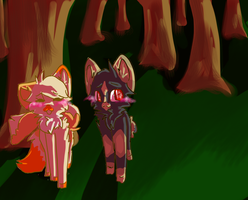through the forest .:commish:. by Freckled-Kat