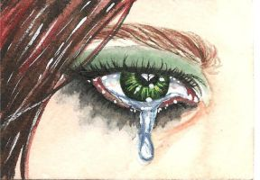 Ariel's emo eye ACEO by artwoman3571