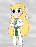Star wears a karate outfit of Marco by Dark-Machbot