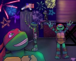 TMNT - Sky Flowers by Myrcury-Art