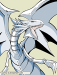 Blue Eyes White Dragon - v2 by kaztle-8