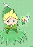 Len and Rin : peter pan by nikeBrAcE