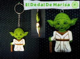 Star Wars Yoda Keychain by MrsSewing