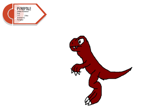 Fakemon: Pyreptile by InvaderToum