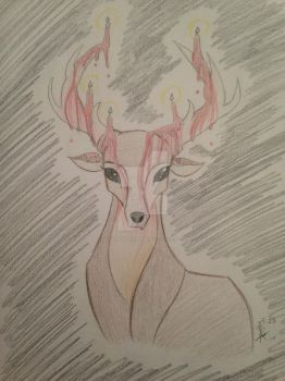 Bloody Antlers by MySapphireReverie