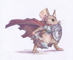 Warrior Mouse by drachenmagier
