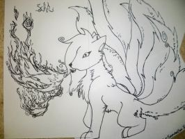 Ninetails - Notecard Puzzle by RingtailFox