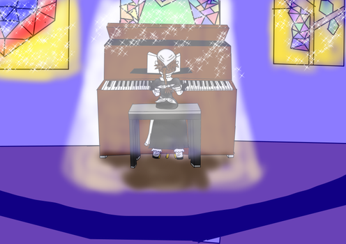 Play Piano on Moonlight by JaksanaBoonchom
