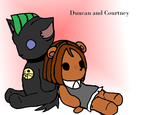 Duncan and Courtney: Stuffed by spoiledmaniac