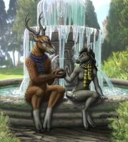 at the spring by Schiraki