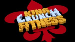 King Crunch Fitness 3D Logo by buckeyo