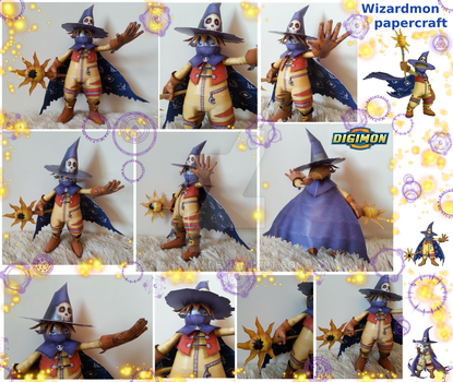Wizardmon - built papercraft by Antyyy