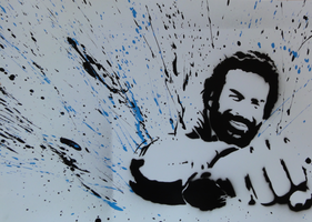 Bud Spencer Photopaper Stencil by RiensArtwork