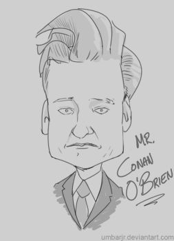 Conan O'Brien Sketch by UmbarJr