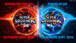 Super Smash Bros. Wii U/3DS Logo Wallpaper #45 by TheWolfBunny