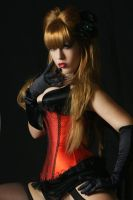 Tanit-Isis Red Burlesque VII by tanit-isis-stock