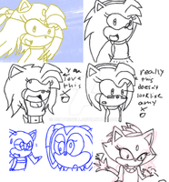 crappy sonic sketch dump 1 xD by deathsbell