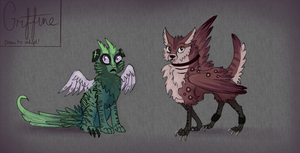 Draw-to-Adopt! Griffines (2 for 1!)-Closed- by Taluns