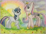 Twilight and Cadence by Floppaw