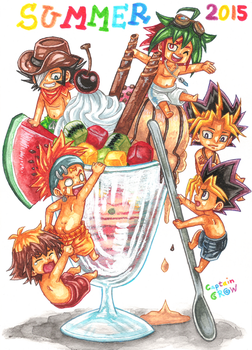 SUMMER 2015 with Yu-Gi-Oh! by Captain--Ruffy