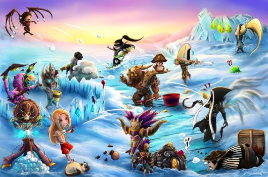 Heroes of the Storm - Ice Battle by Namwhan-K