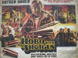 Hobo with a Shotgun Poster by CrystalHoshizora