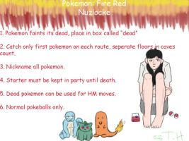 Fire Red Nuzlocke Rules by ToxicHikaru