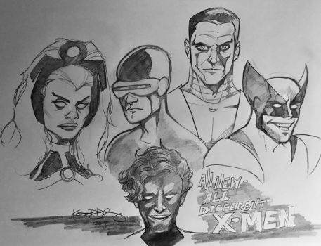 All New/All Different X-Men 1975 by kennf11