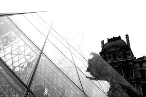 Louvre black and white by just-scream-baby