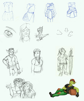 Mostly WoW Sketchdump by Seriiko