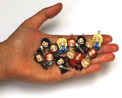 Game of Thrones charms by Sfiziboom