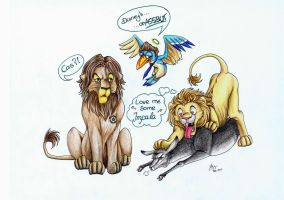 Supernatural Lion King by Sahierah