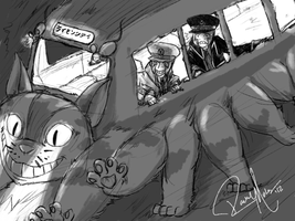 Crossover: Emmet and Ingo Ride the Catbus by Der-Fuchsprophet