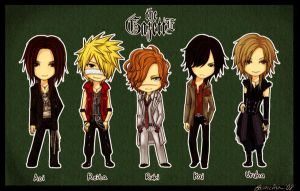 the GazettE Chibis by focaccina