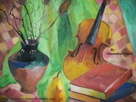 The old violin. Music in my heart. by Alexandra-Glazer