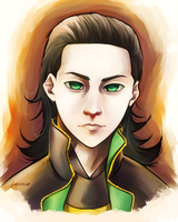Loki Portrait by feurae