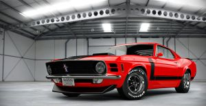 70' BOSS 302 RED by nascar3d