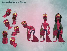 Ghoul character design by GalooGameLady