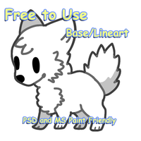 Free Chibi Dog Base by dogebutt