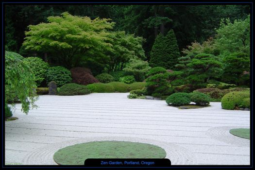 Zen Garden, Portland, Oregon 2 by bentleyw