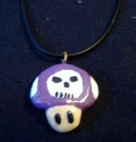 Poison Mushroom Necklace by JediArtisan