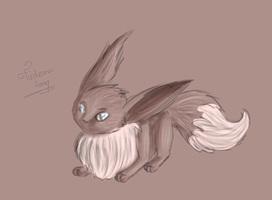 Different style Eevee by avui