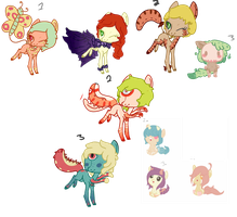 Unsold adopts. OPEN by OfficerMittens