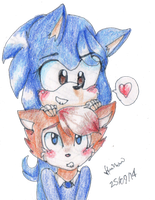 Sonic and Sally genderbend by HollyBjeam