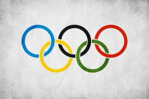 Olympic Flag Grunge by think0