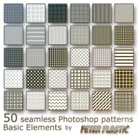 Basic seamless Patterns by PeterPlastic