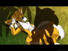 Female Tails anime screenshot: 'Time to go' by nime080