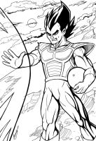 Vegeta - Line art by theharmine
